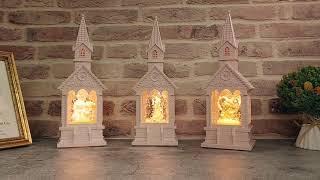 교회 성당 커플 신랑 신부 하트 LED 조명 워터볼 스…
