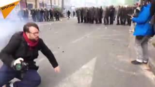 Manif du 1er mai: affrontements, cocktails Molotov, journalistes blessés et caddie en feu