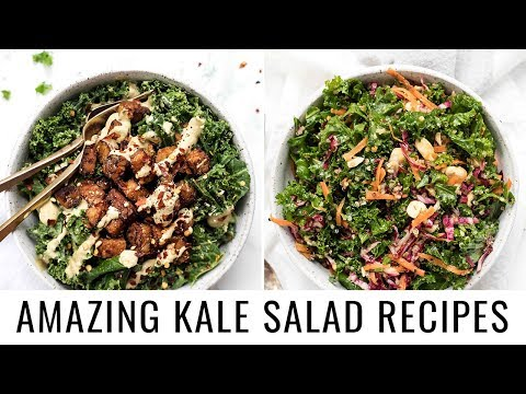 THE MOST DELICIOUS KALE SALAD RECIPES | 2 different ways