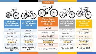Top 5 Best Mountain Bike Under $600