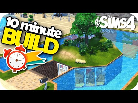 The Sims 4 - 10 MINUTE BUILD CHALLENGE 😱⏰🛠 ¡Construye en 10 minutos! thumbnail