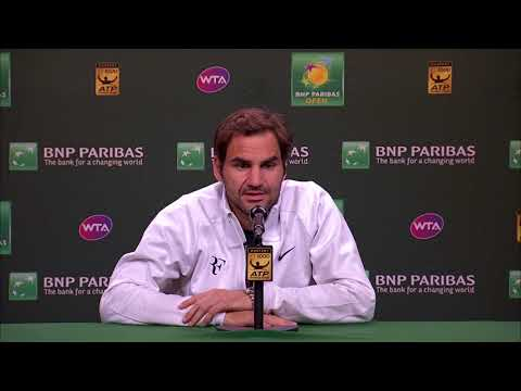 BNP Paribas Open 2018: Roger Federer 4R Press Conference