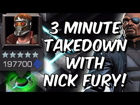 Nick Fury 3 Minute Labryinth of Legends Star-Lord Takedown - Marvel Contest of Champions
