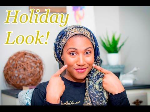 HOLIDAY MAKEUP LOOK|| NATURAL MAKEUP FOR BLACK WOMEN