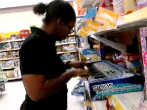 T-Rex Plays Keyboard in Walmart
