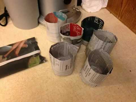 How to make paper plant pots