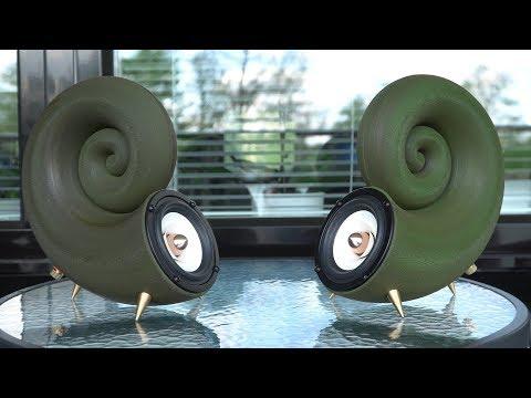 3D printed unique looking spiral speakers! DIY