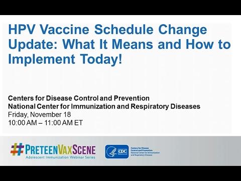 #PreteenVaxScene Webinar #8 HPV Vaccine Schedule Change Update