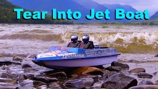 RC CWR Stormy weather jet boating with NQD 757 Tear Into