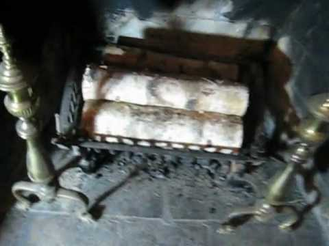 How to open fireplace chimney damper or flue
