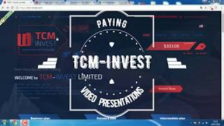 TCM Invest   Paying   Withdrawal 200$   Instant Proof    New Hyip 2018