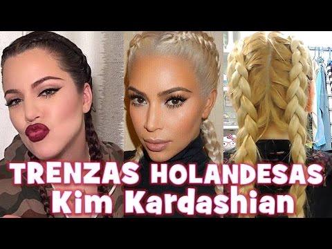 Dos Trenzas Holandesas Peinado Inspirado En Kim Kardashian Double