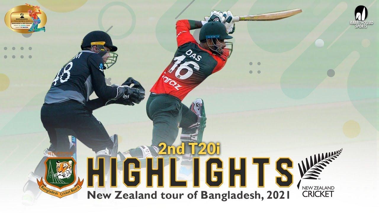 Download Bangladesh vs New Zealand Highlights    2nd T20i    New Zealand Tour of Bangladesh 2021