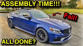 Rebuilding a WRECKED 2019 Mercedes C63 AMG From COPART (Part 13) ITS FINALLY IN ONE PIECE!!
