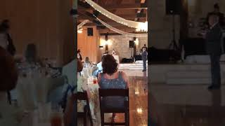 Sean Sings at Trenton & Liz Wedding