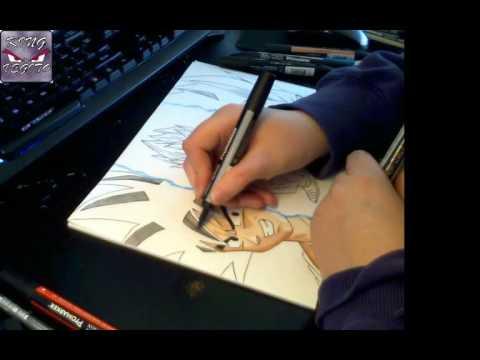 Drawing Vegito Blue part 2