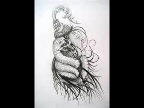How To Draw Lord Shiva Tattoo Pencil Drawing Step By Step Youtube
