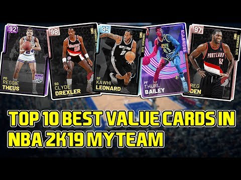 TOP 10 BEST VALUE CARDS IN NBA 2k19 MyTEAM! MUST COP FOR