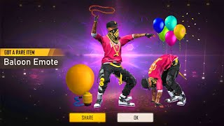 Balloon Emote In free Fire Full Details Free Fire new event ORG ARMY