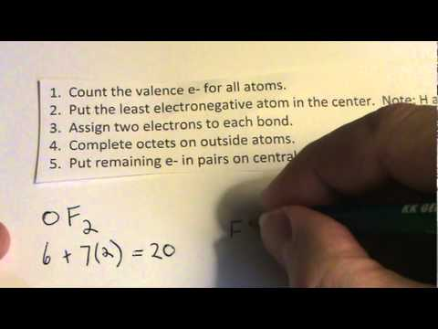 Oxygen Difluoride Lewis Dot Structure How To Draw The Lewis