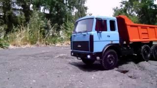 RC MAZ 55160 как настоящий модель МАЗ 55160 самосвал