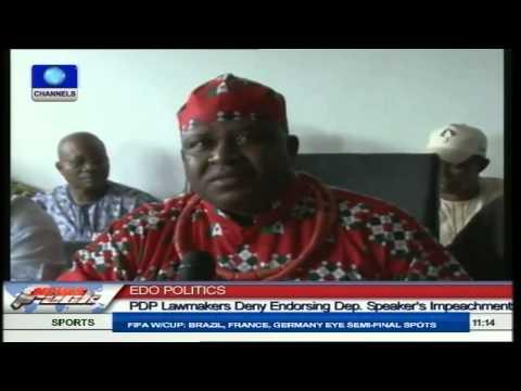 Edo Politics: PDP Lawmakers Deny Endorsing Dep. Speaker Impeachment