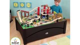Kidkraft Metropolis 100-piece Wooden Train Table Set | 17935