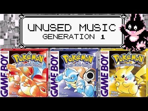 UNUSED MUSIC - GENERATION 1 - Pokemon Red / Blue / Yellow Unused Tracks!