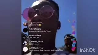 "Yan karamoh in live su instagram dice ""juve di me**a""!"