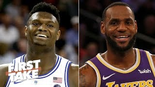 Download The Lakers should draft Zion Williamson so LeBron can feed him - Stephen A. | First Take Mp3 and Videos