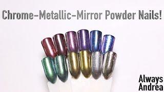 Chrome-Metallic-Mirror Powder Nails