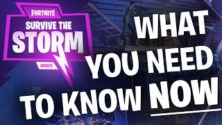 "Fortnite News: Massive Update ""Survive the Storm"" Info - Easier Drops of Rain, Founder Coins Removed"