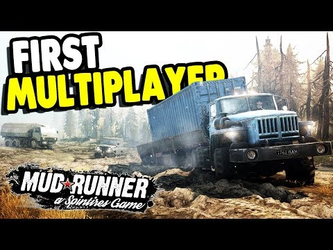 BIGGEST MULTIPLAYER LONG HAUL EVER | SpinTires: Mudrunner Gameplay