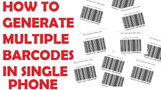 How to Generate multiple JIO Barcodes in one Phone   No Root Required   MAKE MILLIONS OF BARCODES