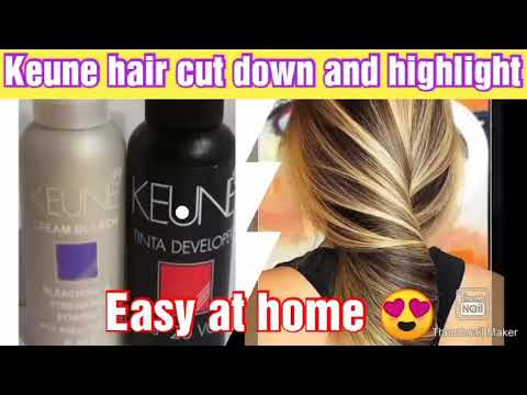 keune cut down and high lights at home with easy method and affordable price😍