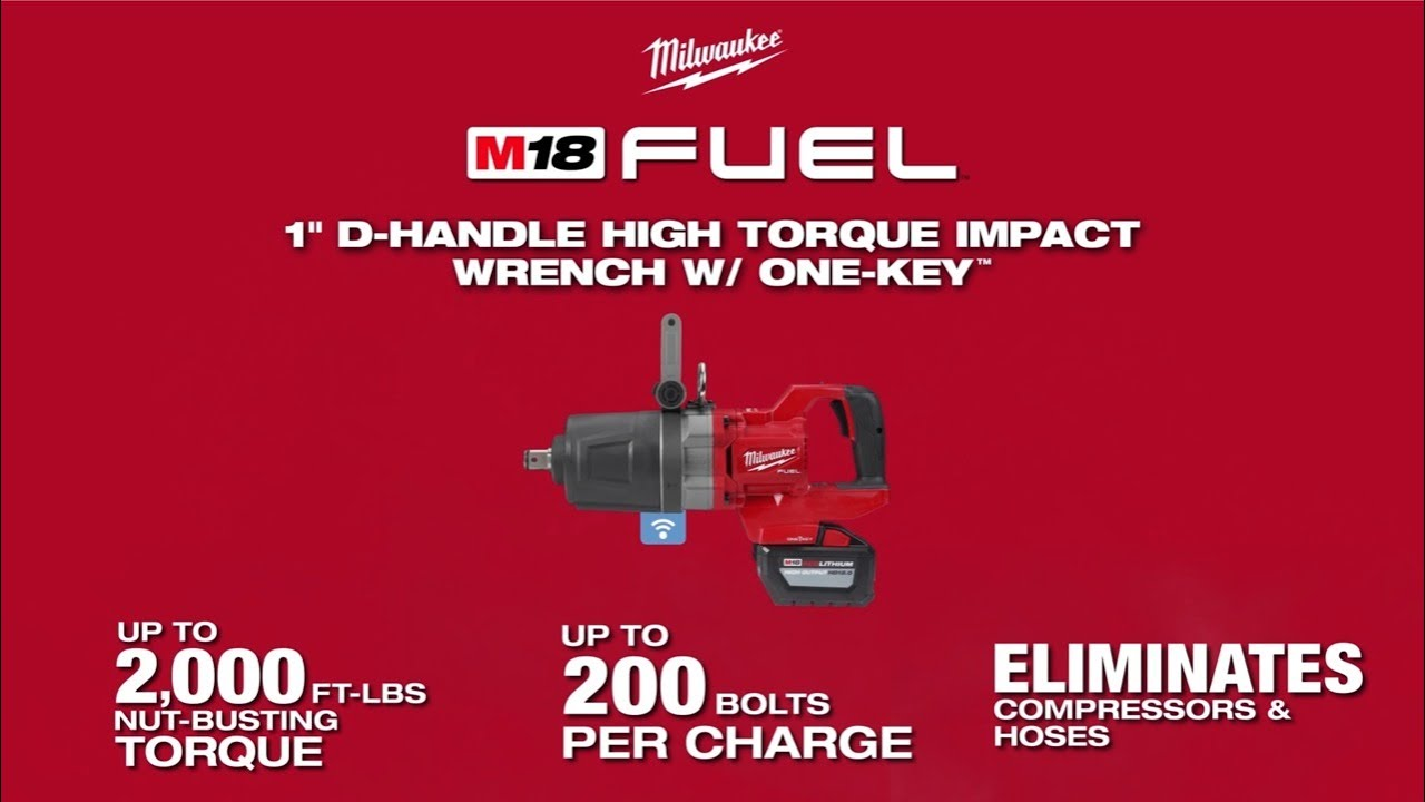 """Milwaukee® M18 FUEL™ 1"""" D-Handle High Torque Impact Wrench w/ ONE-KEY™"""