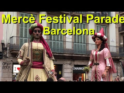 Barcelona Merce Festival opening Parade
