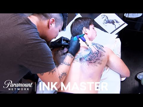Four Horsemen of the Apocalypse: Elimination Tattoo Preview | Ink Master: Shop Wars (Season 9)