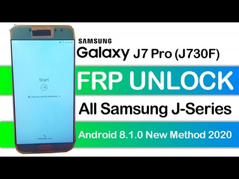 Samsung Galaxy J7 Pro J730f Frp Unlock Google Account Bypass Android 8 W...