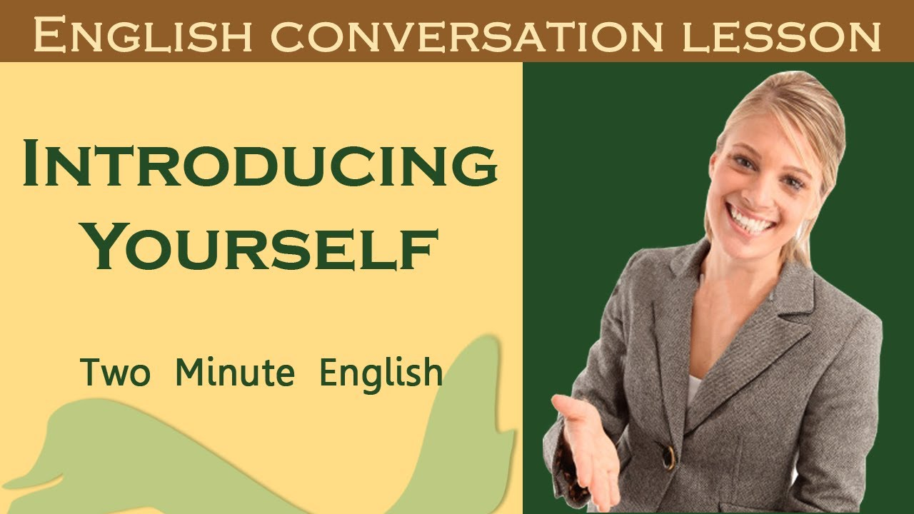 Introducing Yourself How To Introduce Yourself In English Youtube