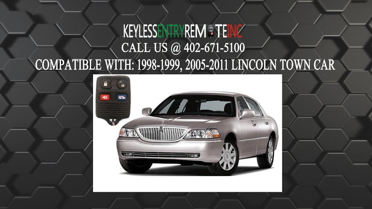 How To Replace Lincoln Town Car Key Fob Battery 1998 1999 2005 2006