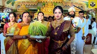 Meghana Raj Holding Kalasa In Dhruva Sarja Marriage | Actress Meghana Raj Latest | Top Kannada Actor