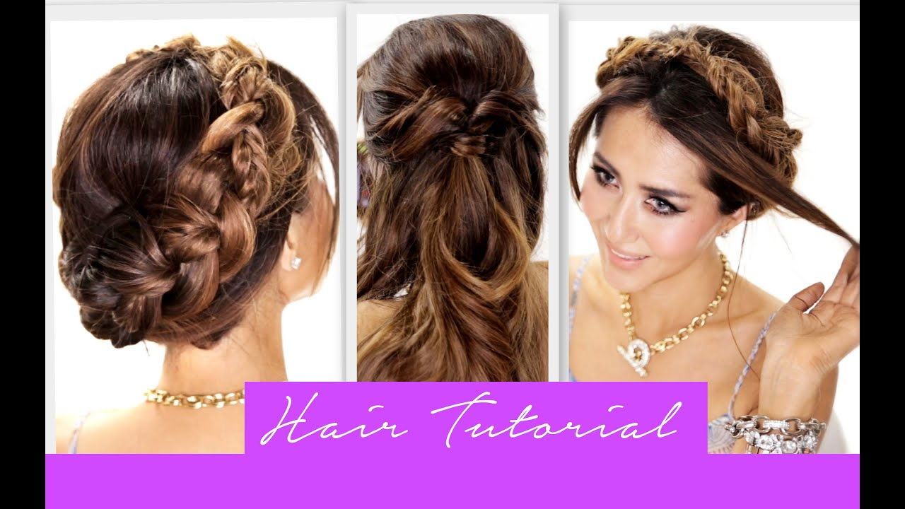 3 Amazingly EASY BACK-TO-SCHOOL HAIRSTYLES | Cute Braids Hairstyle ...