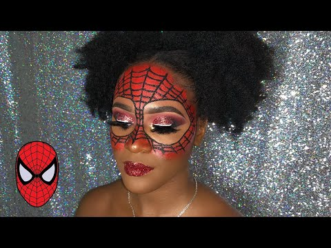 SPIDER-MAN HALLOWEEN MAKEUP TUTORIAL || * GLAM EDITION * thumbnail