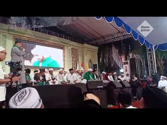 Sambutan KH Ahmad Zarkasy Al Hamidiyah dalam acara malam haul Akbar KH Achmad Sjaichu