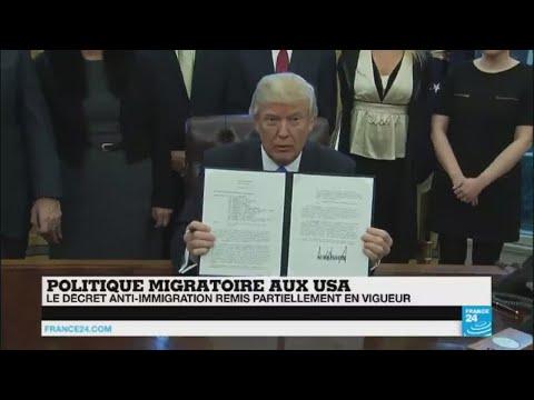 """Décret anti-immigration : """"victoire mitigée pour le Président Trump"""""""