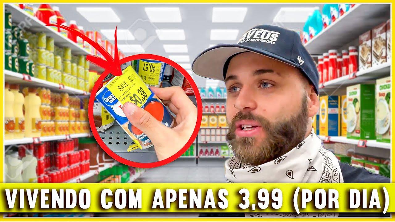 VIVENDO COM APENAS 3,99 (O DIA)