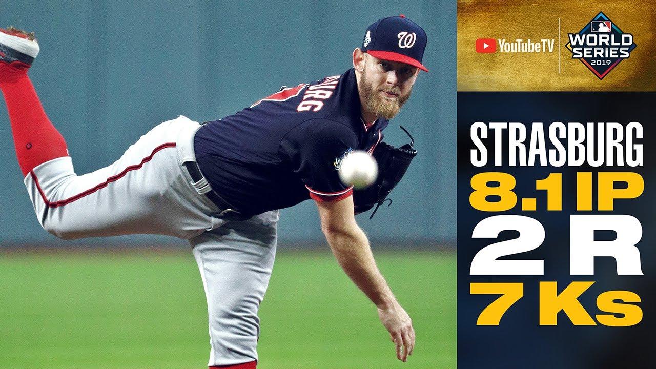 Stephen Strasburg has EPIC Game 6 start (8.1 IP, 7 Ks) to extend World Series for Nationals