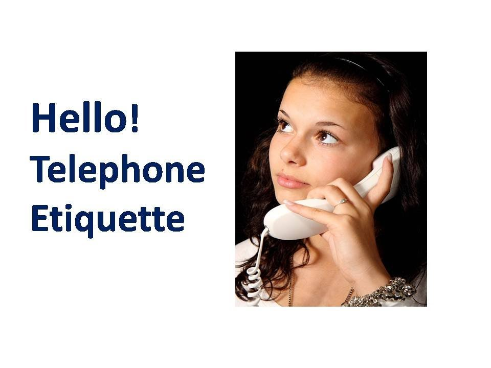 telephone etiquette Telephone etiquette is a set of rules that apply when people make or receive telephone calls the basics of telephone etiquette.