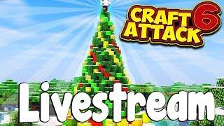 Frohe Weihnachten 🎅🏻🎄! CraftAttack 6! - LIVESTREAM vom 24.12.18